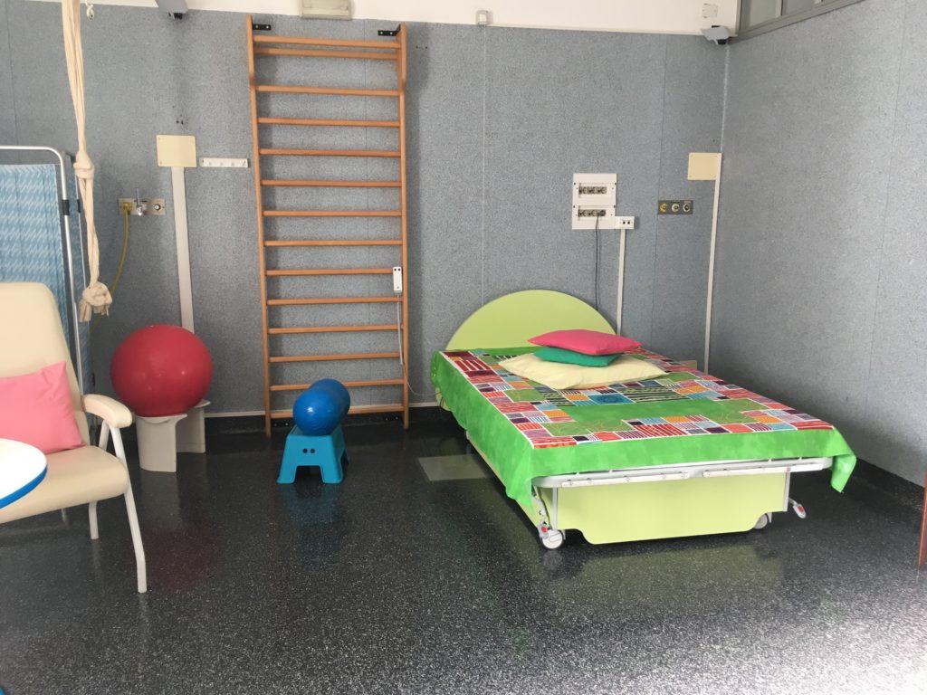 La sala travaglio e parto del Centro Nascita dell'Ospedale Sant'Anna di Torino